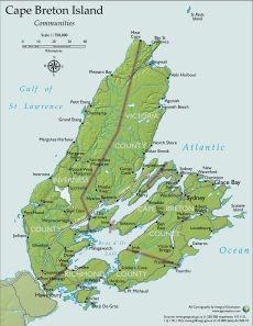 Image: Map of Cape Breton Island