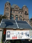 Solar fair in Queens Park at U of T