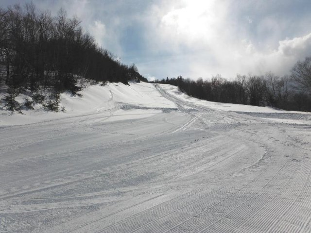 Looking up the rest of the hill