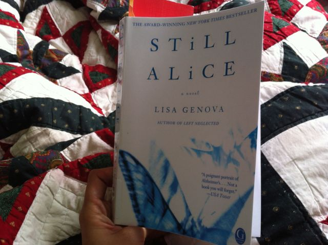 """Still Alice"" by Lisa Genova. Book report by Leah Noble."