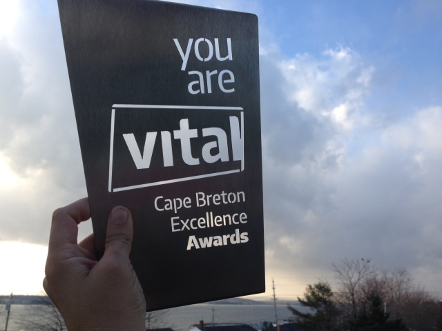 One of the inaugural Vital Excellence Awards from the Cape Breton Partnership